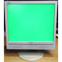 """Б/У монитор 17"""" Philips 170B с колонками и USB-хабом в Дрезне, белый (Дрезна)"""